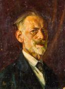 Friling, Hermann (Köln, Berlin 1867-1942) Selbstporträt. Brustbildnis. Malkarton. Monogr. u. dat. (