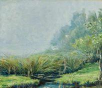 Dongen, Jean van (1883-1970) Diesiger Tag. Kl. Wasserlauf und Gräser. Sign. u. dat. (19)53. Lwd. (
