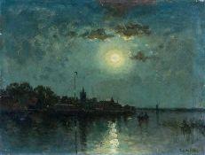 Chattel, Frederic Jacobus van Rossum du (Leiden, Yokohama 1856-1917) Vollmond über weiter