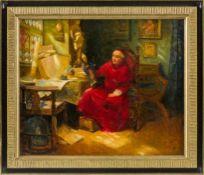 Duxa, Karl (Wien 1871-1936) Der Kunstkenner. Kardinal in Studierstube, eine Heiligenfigur