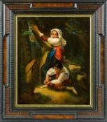 Beccarisi, L. (Italien, um 1856) Helfer in der Not. Junger Hirte, einem Landmädchen eine Spreisel