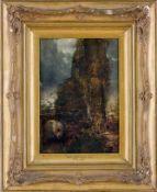 Englischer Maler (19. Jh., ehemals John Constable zugeschrieben) Hamsteadlandschaft bei aufziehendem