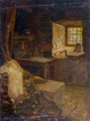 Agthe, Curt (Berlin 1862-1943) Zimmer einer Ölmühle in San Vigilio, Gardasee.Sign. Ortsbez. u.