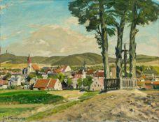 Hänsch, Johannes (Berlin 1875-1945) Feldmühle/Odermünde, Kreis Stettin im Sommer.Sign. u. dat. 1939.