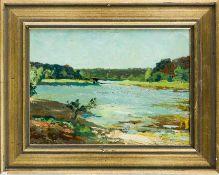 Dürschke, Max (Breslau 1875– nach 1945) Fünf kleine Landschaftsstudien.a) Waldsee, b) Häuser im