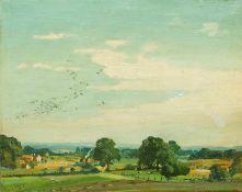 Dürschke, Max (Breslau 1875– nach 1945) Sechs kl. Landschaften,teilweise mit roten Häusern