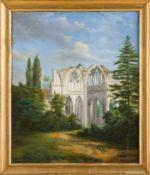 Französischer Architekturmaler (19. Jh.) Ruines d l'Abbaye de Notre Dame d'Ourscamp.Chorpartie. (