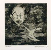 Grundig, Hans (Dresden 1901-1958) Masken, 1936.Radierung. Bleistift sign., betit. u. dat. 24,7×24,