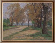Glatz, Alfred (Cottbus, Berlin 1870-1945) Lichterfelde, Sommerweg zum Lilienthaler Berg. Sign.