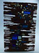 Installation, Brigitte Becker, 1960er Jahre à-jour-Email-Platte, oben u. untern eingesägtes