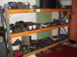 Lot 110 - CONTENTS OF RACK including studs, reamers, riser blocks, spacers, etc