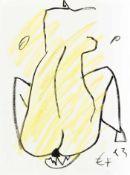 Ecker, Franz Rückenakt, 1993 Ölkreide auf Papier Monogrammiert und datiert rechts unten 31,8 x 24