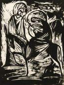 Fischnaller, Josef Flucht nach Ägypten, 1965 Linolschnitt Signiert und datiert rechts unten