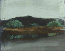 Eisler, Georg Landschaft Farblithografie Signiert rechts unten Blattgröße: 49,2 x 67 cm Knick in der