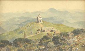 Blamauer, Adolf Albin Elisabethkapelle am Schneeberg, um 1906 Gouache auf Papier 23,6 x 36,5 cm