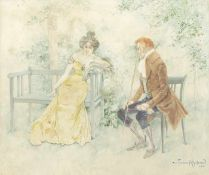 Fischer-Köystrand, Carl Elegantes Paar, 1902 Gouache auf Papier Signiert und datiert rechts unten 26