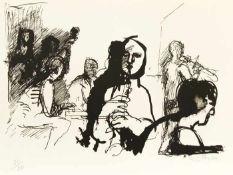 Eisler, Georg Musiker, 1964 Lithografie Signiert und datiert rechts unten, nummeriert links unten: