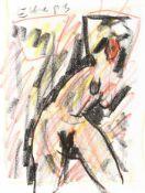 Ecker, Franz Weiblicher Akt, 1993 Ölkreide auf Papier Signiert und datiert links unten 31,8 x 24 cm
