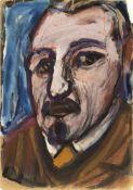 Degner, Arthur Selbstporträt, um 1946 Mischtechnik auf Papier 29,5 x 20,7 cm