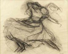 Eckl, Vilma Tänzerin Kohle auf Papier Nachlassstempel rechts unten 49 x 63,5 cm Leihrahmen