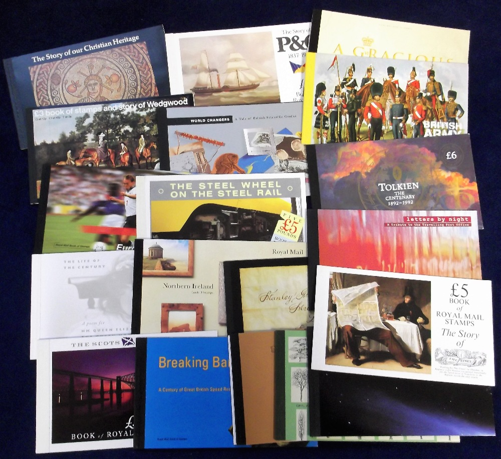 Lot 10 - Stamps, GB, a collection of 22 Prestige booklets, all complete Inc. Celebrating 75 Years of the BBC,