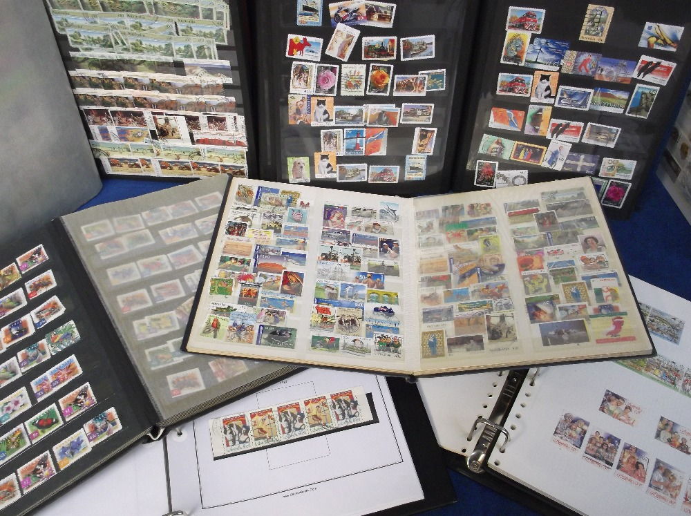 Lot 7 - Stamps Australia, a large collection of stamps contained in 8 albums and stock books early 1900s