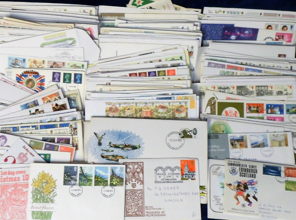 Lot 18 - First Day Covers, a large collection of GB covers, mostly 1960/80's, the majority hand-addressed,