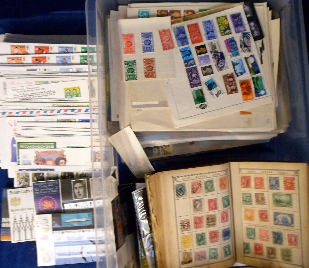 Lot 6 - Stamps, a large quantity of stamps on album pages, in albums, presentation packs etc, GB and