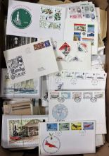 Lot 14 - Postal History, large quantity of Jersey, Guernsey, Isle of Man and other islands covers, stamps,