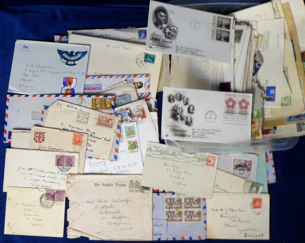 Lot 22 - Postal History, a collection of approx 200 envelopes & covers, 1920's onwards, typed & hand-