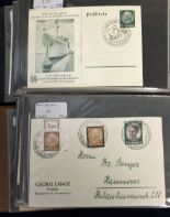 Lot 32 - Postal History / Covers, Germany, two albums containing a collection Third Reich covers & postal