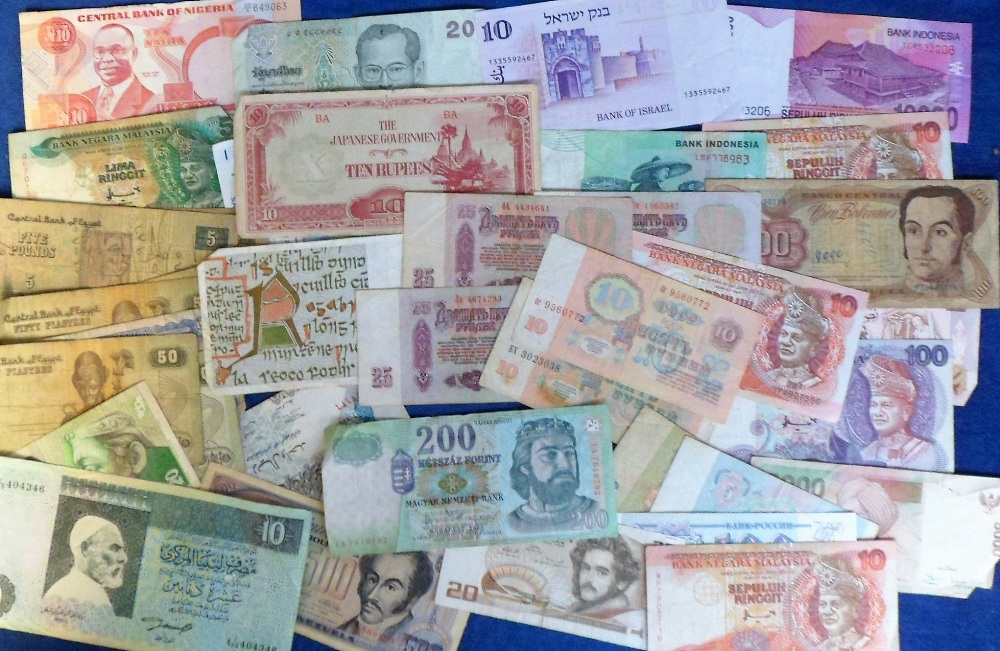 Lot 38 - Banknotes, a large collection of approx 500 banknotes, 1930's onwards, world wide selection from