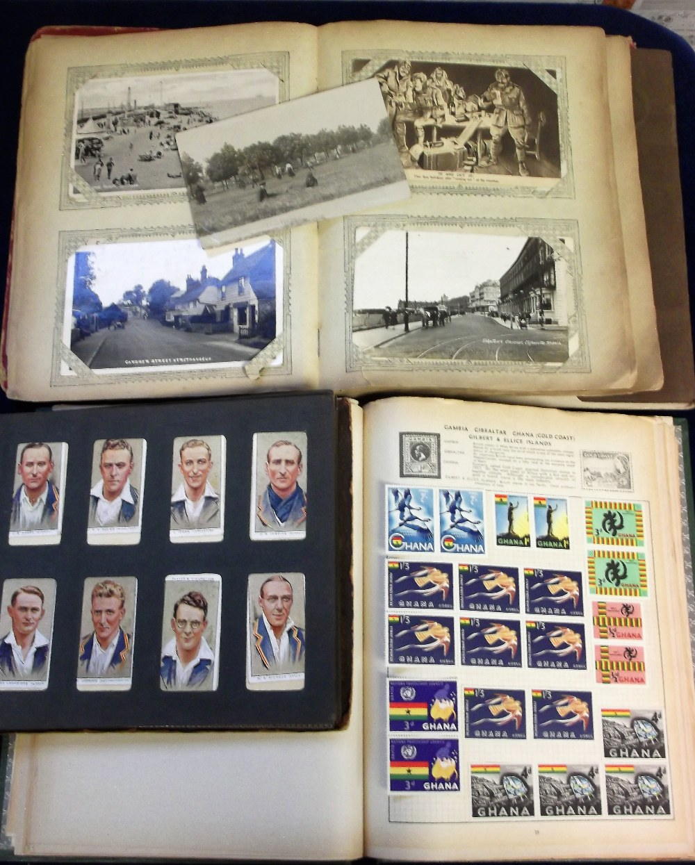 Lot 26 - Stamps, Postcards, & Cigarette cards, a Rapid Stamp Album containing a collection of world stamps