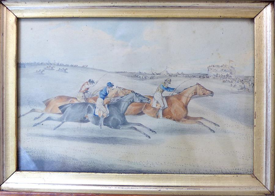 Lot 54 - Henry Thomas Alken (12 October 1785 – 7 April 1851), a pair of horse racing watercolours