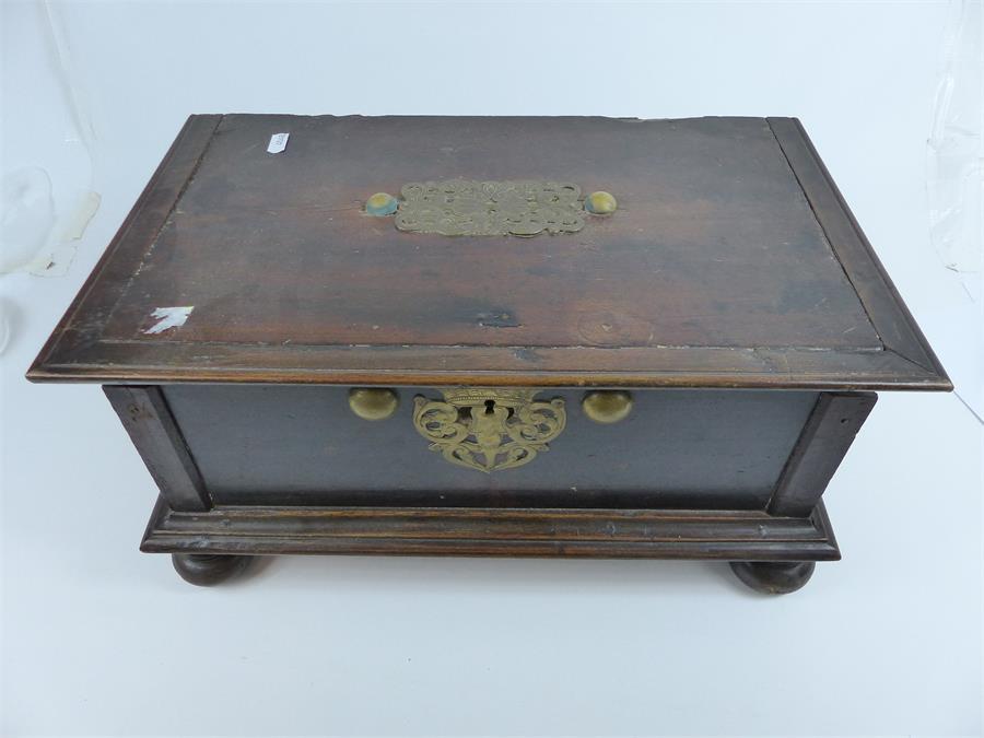 Lot 56 - A small hardwood document box