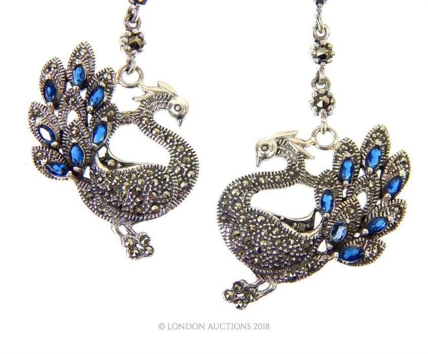 Lot 24 - Drop of Silver Earrings