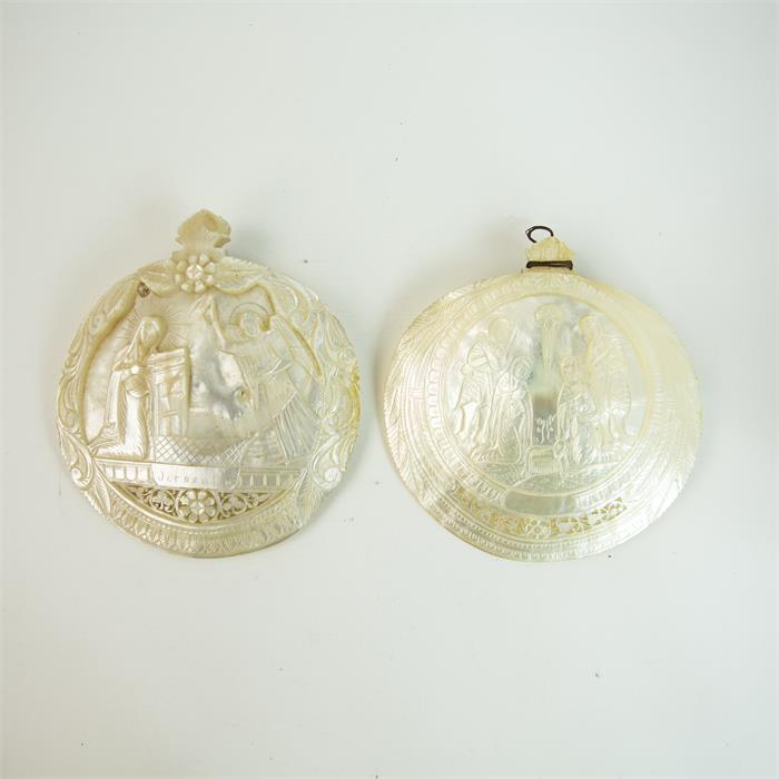 Lot 36 - A Pair of Mother of Pearl Shells