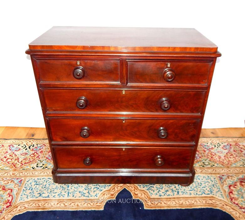 Lot 2 - A Victorian mahogany chest