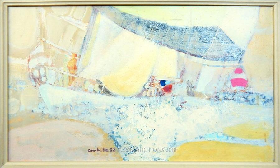 "Lot 4 - Paul Ambille (French, 1930–2010) oil on canvas ""Regatta"""
