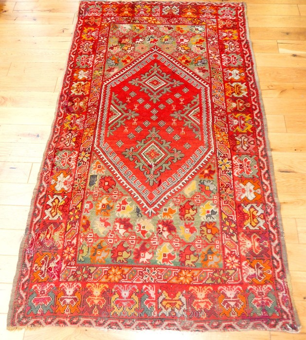 Lot 60 - A Turkish Ushak rug