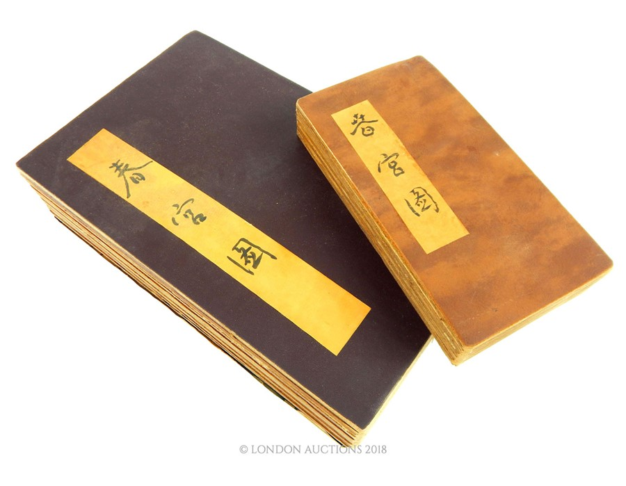 Lot 58 - Two books of printed Chinese erotic scenes