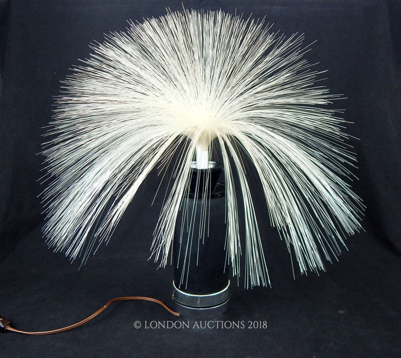 Lot 26 - A vintage circa late 1960s Poly-Optics fibre optic lamp