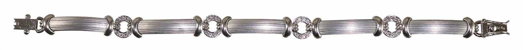 Armband, WG 750/000, sig.: MR, 32 Brillanten ca.0,35 ct tw-vsi, die Brillanten sind in
