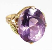 Ring, GG 585/000, Amethyst ca. 12,0 ct (13,7 x 17,2 mm), facettiert, RW ca. 56