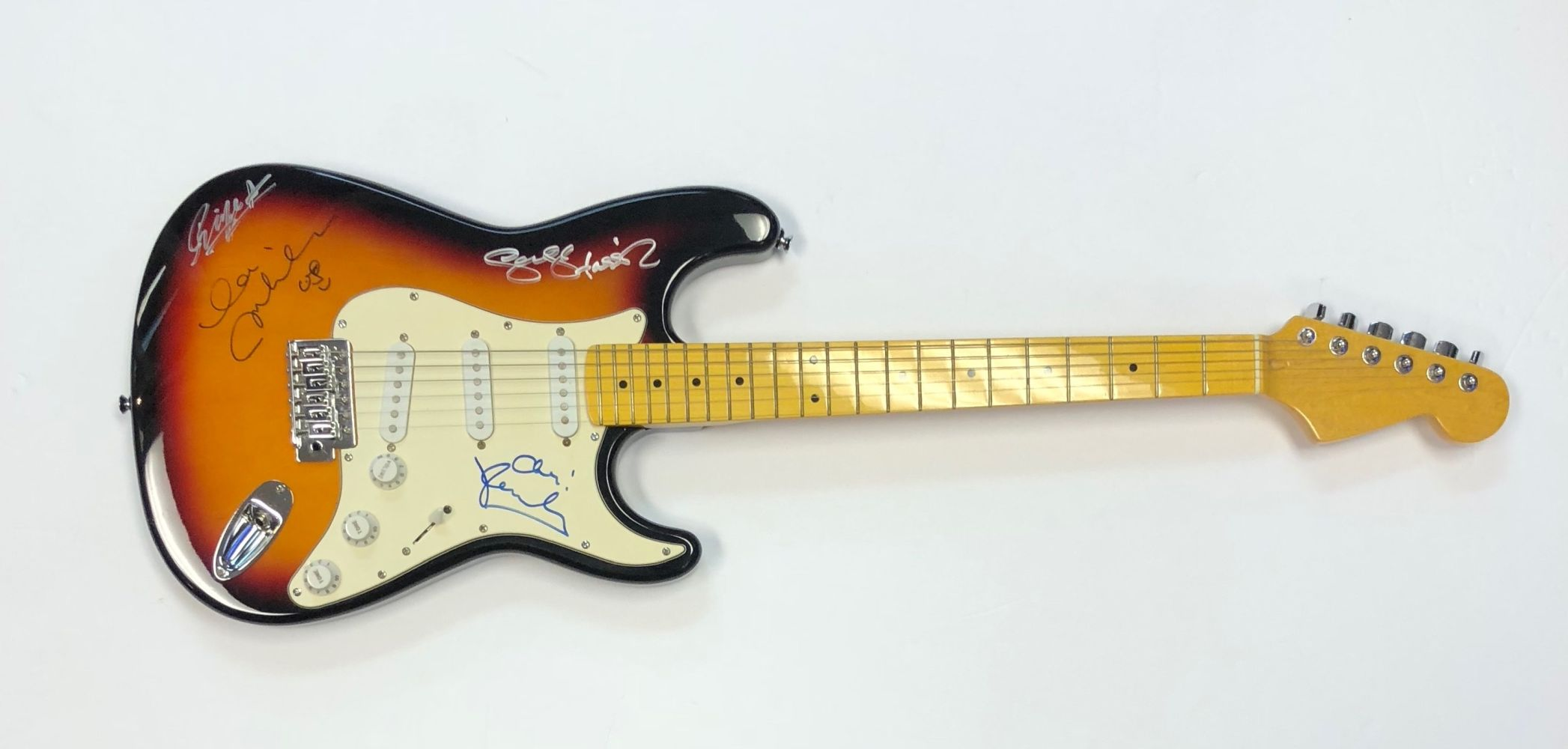Lot 277a - The Beatles Signed Sunburst Guitar