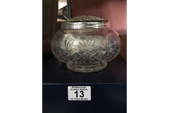 A Boxed Royal Scot Crystal Rose Bowl And A Royal Doulton Crystal Vase