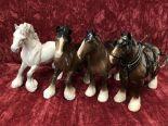 Lot 8 - Four Beswick shire horses.