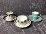 Lot 48 - Three 18th and 19th Century cabinet cups and saucers, various makers.