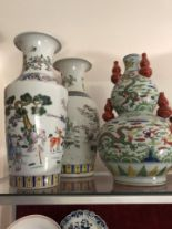 Lot 38 - Three assorted Chinese vases.