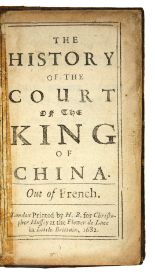 Lot 8 - BAUDIER, Michel. The history of the court of the king of China. Out of French.